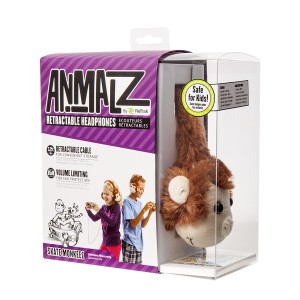 Animalz by Retrak Kids Headphones Monkey Design