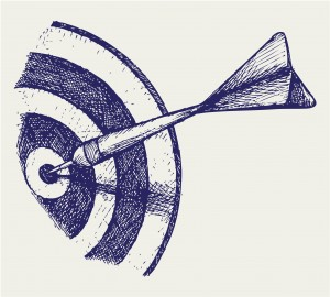 163162706 - Drawing of Dart on Target