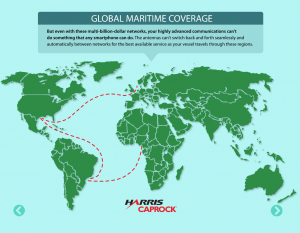 Harris CapRock One Global Maritime Coverage
